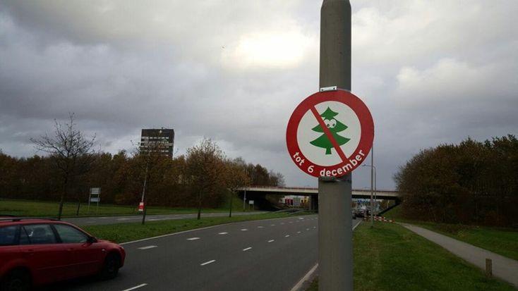 Het bord in Assen (foto: RTV Drenthe / Nico Swart)