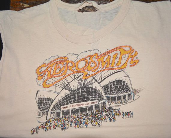 af075cd15 1976 AEROSMITH vintage concert 70's Tour rare original sleeveless ...