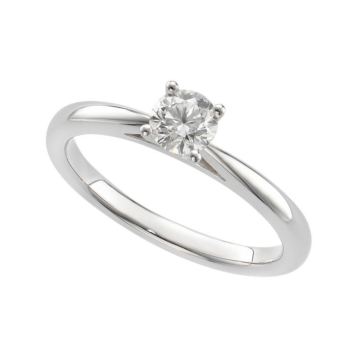 Brilliant Fire Platinum 040 Carat Diamond Solitaire Ring