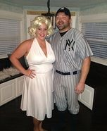Coolest couples Halloween costumes - Marilyn and Joe Homemade Costume