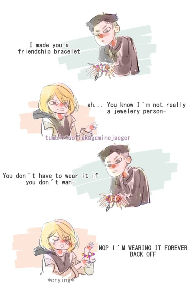 I love this friendship with the force of 1000 souls. Basade on this post: http://torwoo.tumblr.com/post/154221271455/otabek-i-made-you-a-friendship-bracelet-yurio
