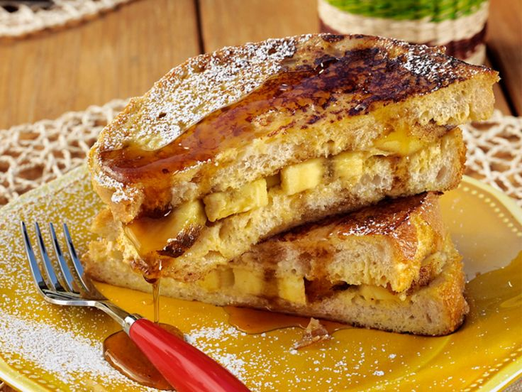 Get this all-star, easy-to-follow French Toast Panini With Grilled Bananas recipe from Patrick and Gina Neely