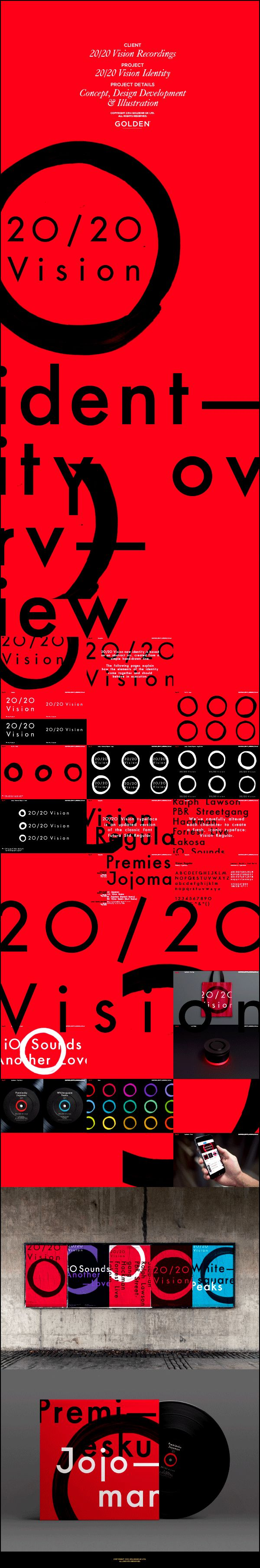2020 Vision Recordings Identity on Behance