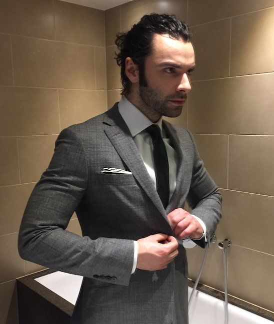 """ava-candide: """"Dashing  Source: @RichardJamesRow Twitter """" Reblogging again, as this is one of my fave Aidan photos ever!"""