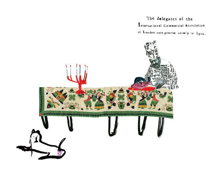 Joanna Neborsky, Illustrated Three-Line Novels: Félix Fénéon, 2010 (unused illustration)