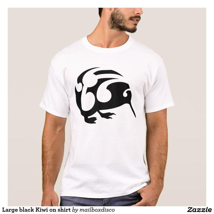 Large black Kiwi on shirt