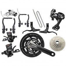 Shimano Deore Trekking Groupset V-Brake 3x10-speed - black - www.store-bike.com