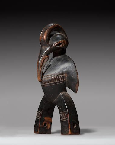 Senufo Bird-Form Weaving Pulley, Ivory Coast