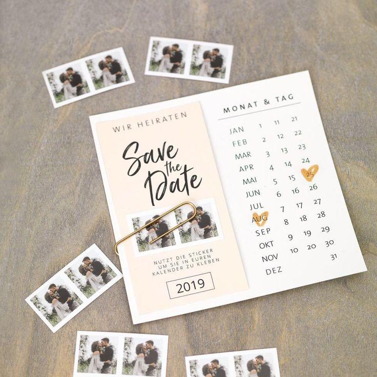 DIY Save-the-Date-Karten-Vorlage mit Kalender | Karte ...