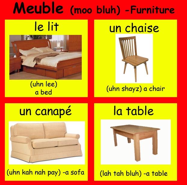 81 best La maison et les meubles -house furniture vocab images on