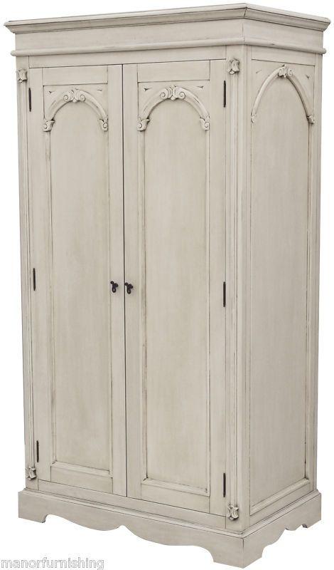 Painted Shabby Chic Bedroom Furniture Double Wardrobe | eBay