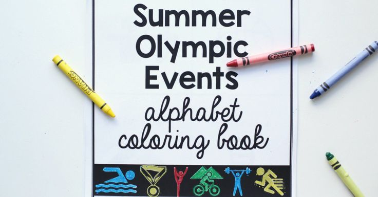 This FREE Summer Olympic Events Alphabet Coloring Book can be printed right from your home or office. Includes an alphabetic list of the olympic events!