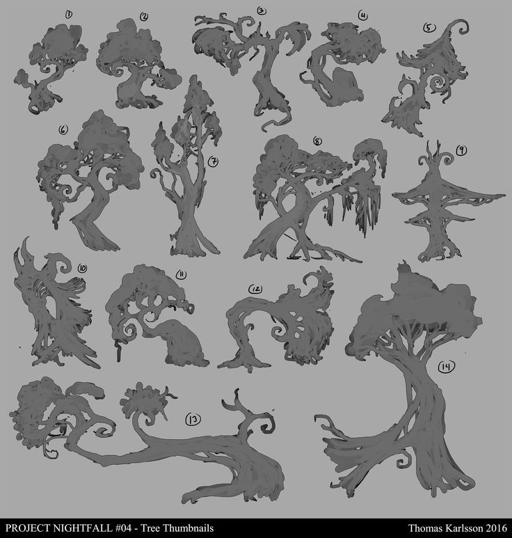 ArtStation - Project Nightfall - Trees and fungus, Thomas Karlsson