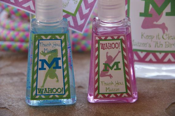 trampoline party Favors - 5 mini hand sanitizers on Etsy, $15.00