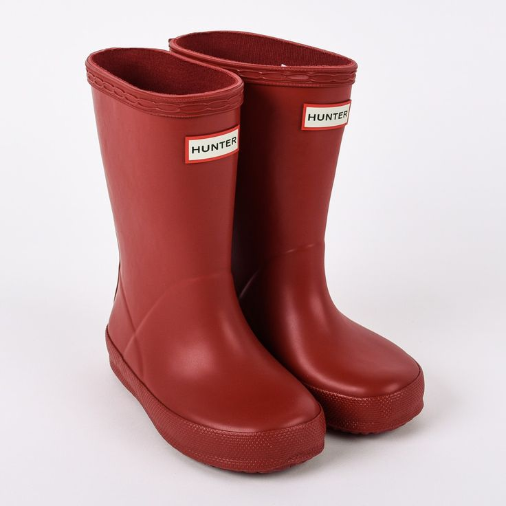 Hunter Original Kids' First Classic rote Gummistiefel