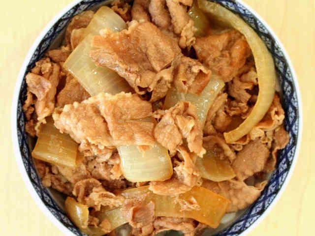吉野家の牛丼を完全舌コピーの画像