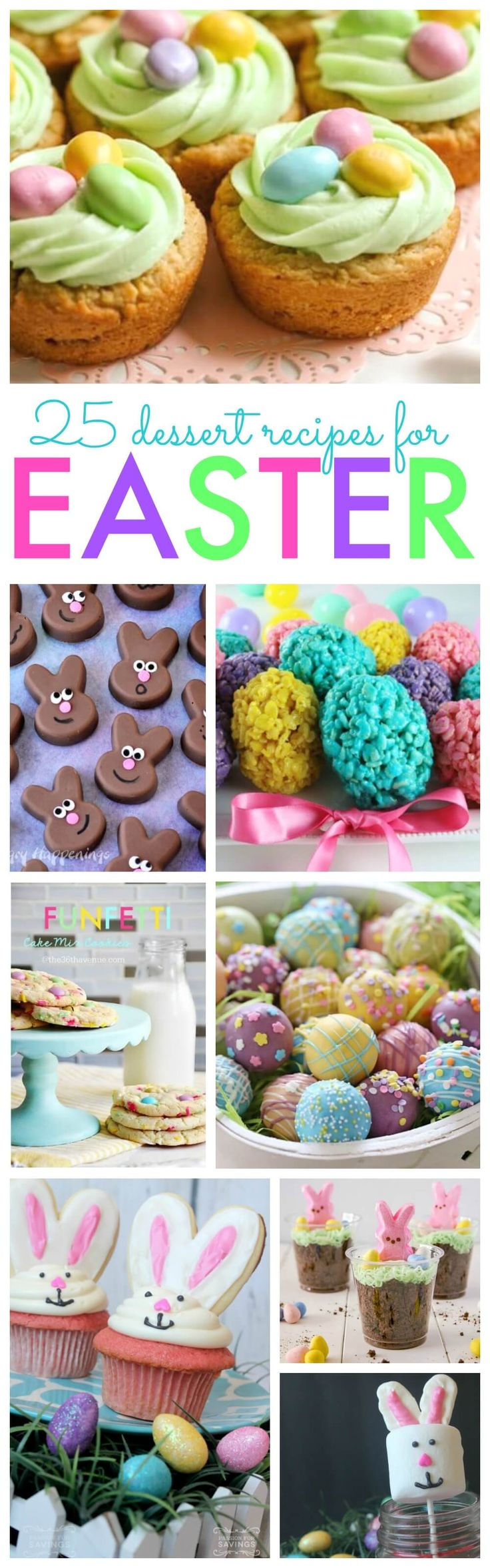 25 Easter Dessert Recipes that you can make for Easter Brunch, Lunch or an Easter Party. These Ideas are perfect Easter Ideas for Kids to have some fun celebrating Easter with Kids and Family.