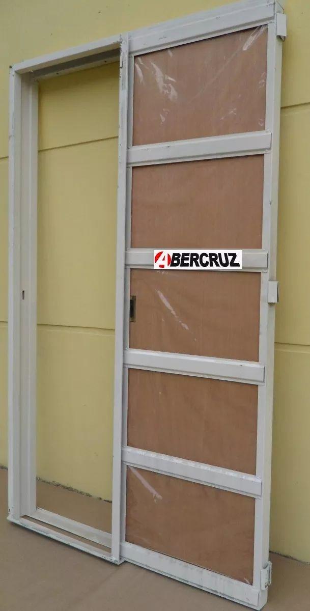 Puerta Placa Corrediza Embutir Cedro Durlock 70x200 Chapa18 - $ 2.490,00 en Mercado Libre