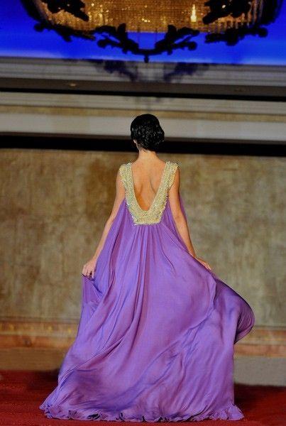 Purple flowing grecian gown by Anlij