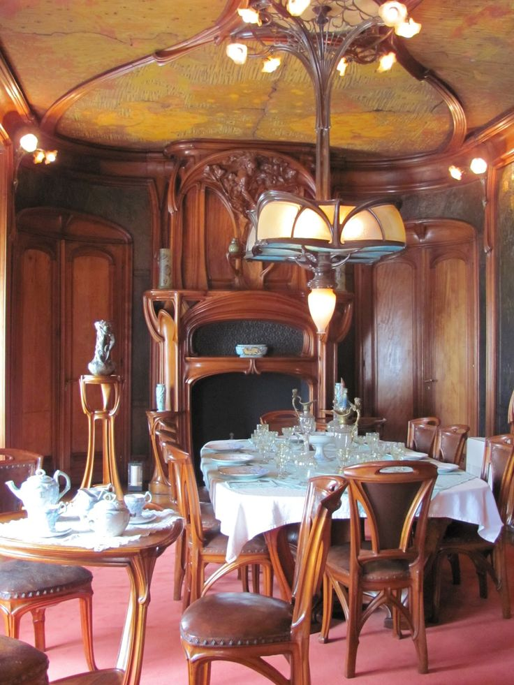 Salle A Manger Dining Room By Eugne Vallin Victor Prouv Art Nouveau
