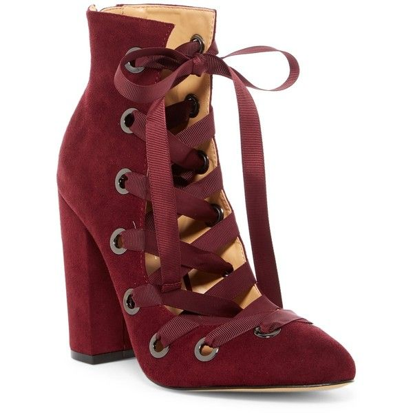 Daya by Zendaya Najah Corset Lace-Up Bootie ( 65) ❤ liked on Polyvore  featuring shoes e85f5b4e4