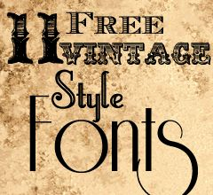 11 Free Vintage Style Fonts