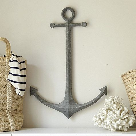 Metal Anchor Wall Decor for the powder room