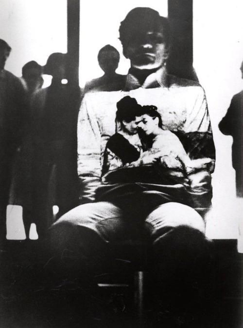Intellettuale (Intellectual),Fabio Mauriperformance documentation, showing Pier Paolo Pasolini's II Vangelo secondo Matteo (The Gospel According to Saint Matthew projected on Pasolini.