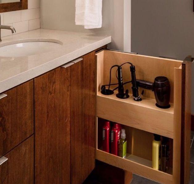 Porta secador para armrio de banheiro  banheiros em 2019