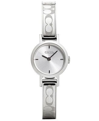 COACH SIGNATURE STUDIO BANGLE WATCH - Women's Watches - Jewelry & Watches - Macy's