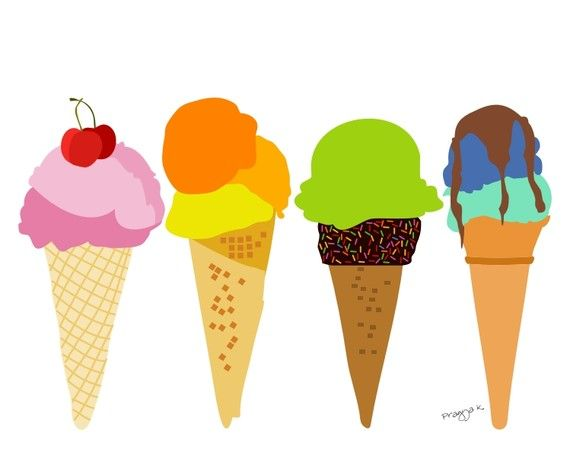 painting an ice cream illustration             could be a nice cheerful entertainment for kids