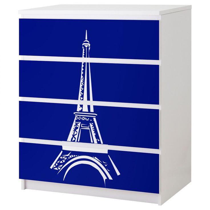 Paris Eiffel Tower IKEA malm vinyl overlay   https://twikrs.com/en/vinyl-decal-ikea-malm-d0198-f005/