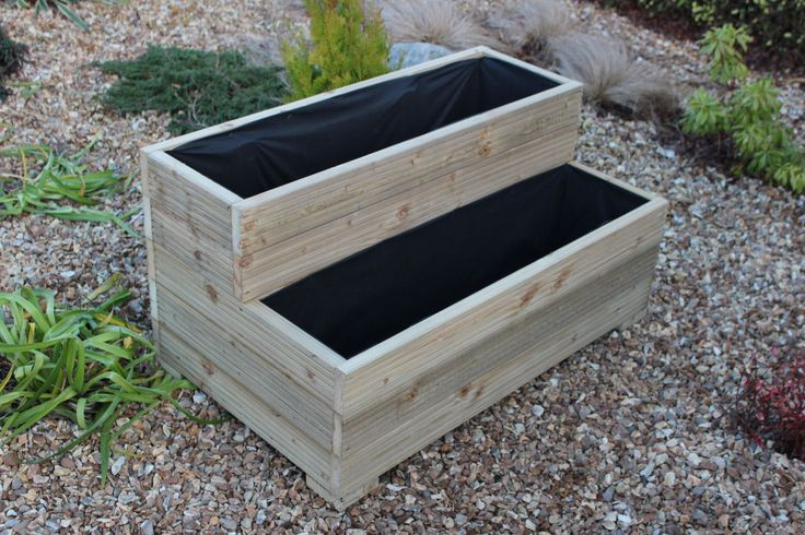 45 best images about planter boxes on pinterest raised for Wooden wine box garden