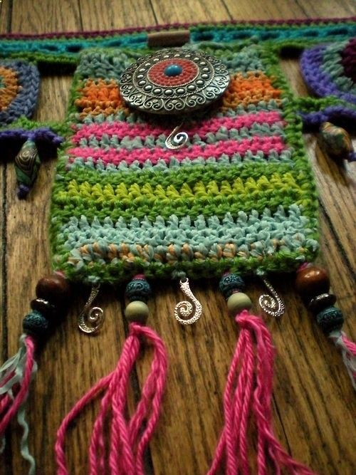 Cosmic crochet utlity belt ~ music festival swag All of my pieces are one-of-a-kind, original wearable art designs