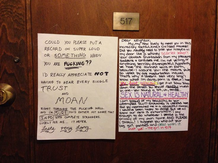 Chicago Neighbors Fight Over Loud Sex In Apartment Building Via Passive-Aggressive Notes (counter-slut-shaming)