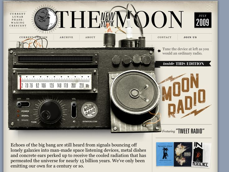 the new york moon website has a really nice web design check it out now and find other great web designs
