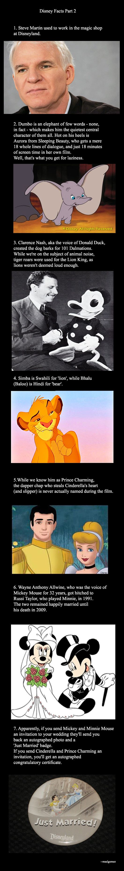 Disney Facts Part 2... pinning for the last one, guess who just became wedding guests at my future wedding, u know when it finally happens!