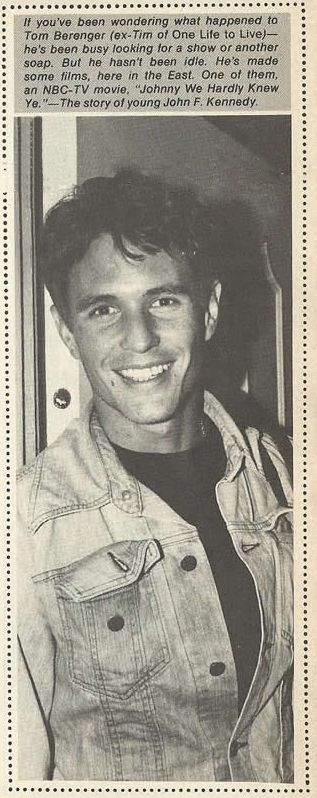 Clipping of Tom Berenger from 1976-77