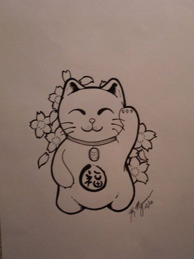 maneki neko tattoo - Google zoeken