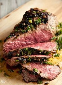 "Beef Sirloin With Fresh Herbs Marinade | ""Use raw Apple cider vinegar instead of red wine vinegar."" -MB."