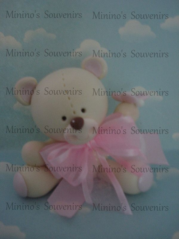 osos en porcelana fría con cajas de fibro fácil pintadas y decoradas con decoupage