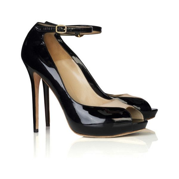 Alexander McQueen Satin panel pumps ($455) ❤ liked on Polyvore