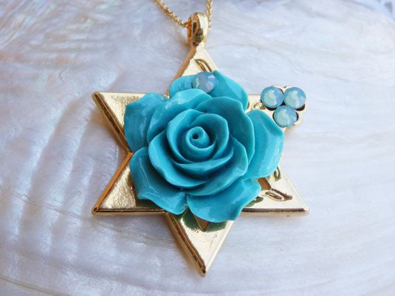 Star of David necklace.Star of David by rebekajewelry on Etsy