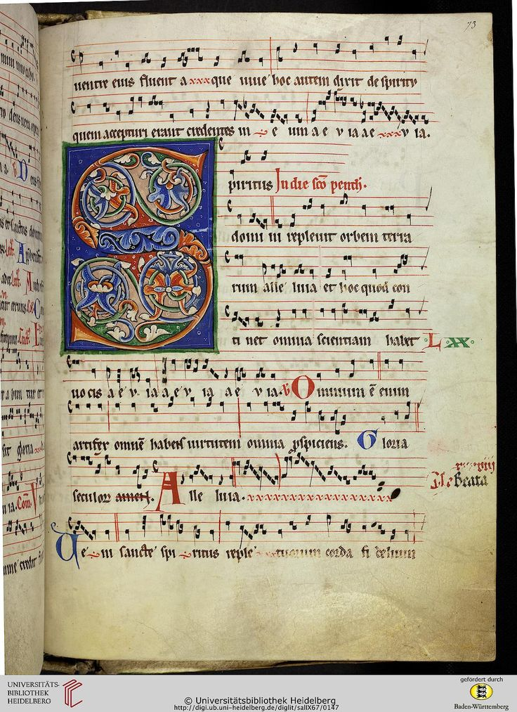Cod. Sal. IX,67 Graduale Cisterciense — Salem, um 1225