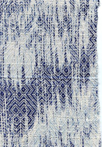 Gennie Stafford - Indigo ikat weaving