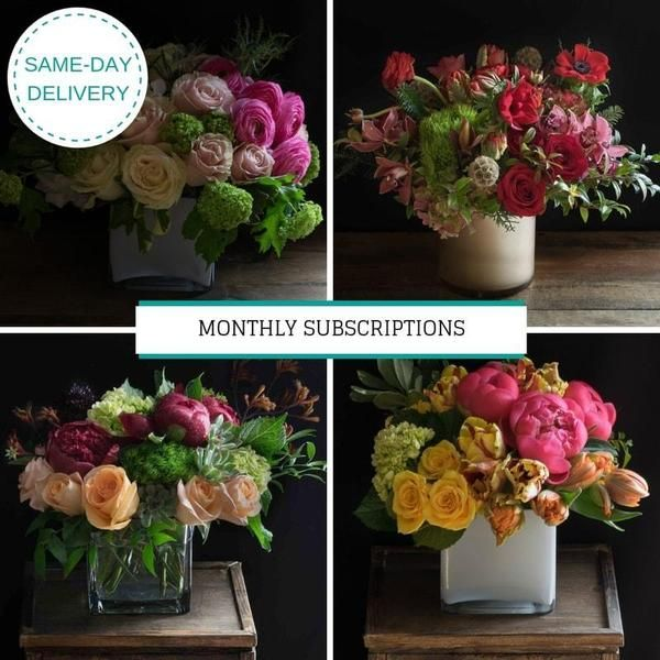 Monthly Flower Delivery Subscription Monthly Flower Delivery Flower Delivery Jardin Floral Design