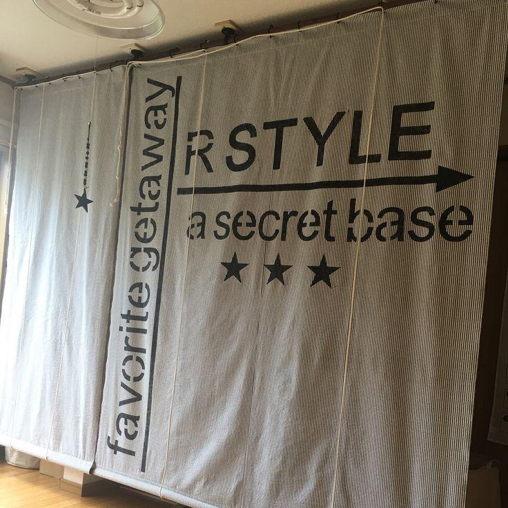 いいね!24件、コメント18件 ― riho1107さん(@tb.riho1107)のInstagramアカウント: 「作業台にロールカーテンを自作。ステンシルの文字が大きすぎた#ロールカーテン#diy#ステンシル#作業台」