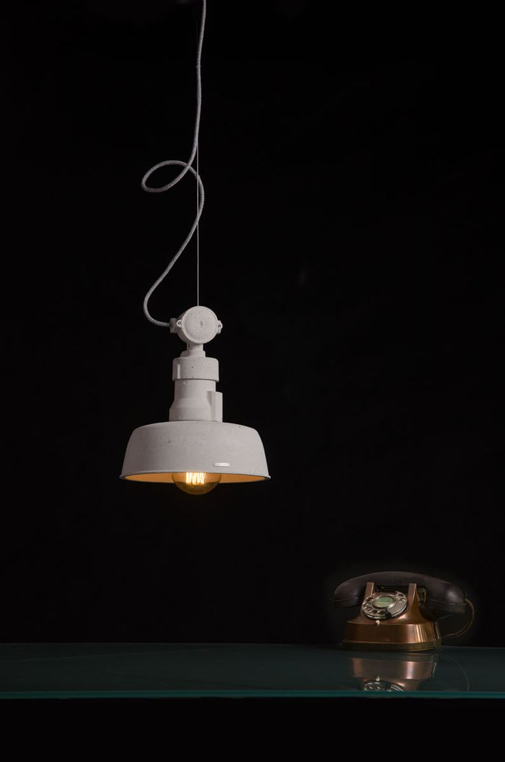 VOLTA - our new concrete lamp. Here in natural colour.