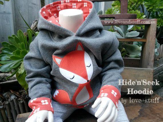 Hide'n'Seek Hoodie PDF Pattern in sizes by Loveandstuffdesigns