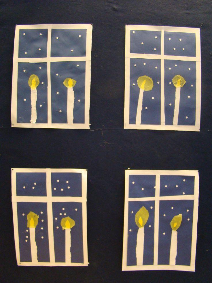 Kynttilät ikkunalla